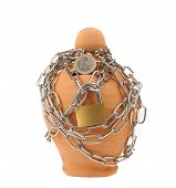 Piggy Bank With Lock And Chain