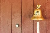 Last call bell on the cabin wall