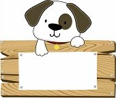 Puppy blank sign board