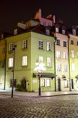 Illuminated Townhouses At The Square Castle
