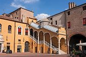Town Hall Square In Ferrara, Italy