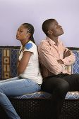 Young African Couple In Conflict
