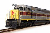 pic of locomotive  - perspective shot of a modern locomotive - JPG