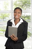African Business Woman With Tablet Pc