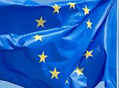 Standard waving flag of the European Union