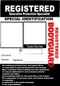Bodyguard Id Badge   Security