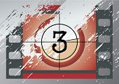 grunge film countdown (vector)