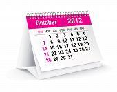 october 2012 desk calendar