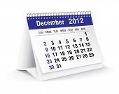 december 2012 desk calendar