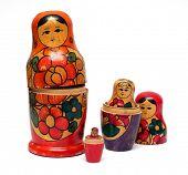 russian wooden dolls set -