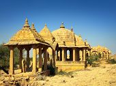 cenotaphs in Bada Bagh - Jaisalmer Rajasthan India