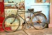 pic of incredible  - old vintage bicycle in jodhpur rajasthan india - JPG