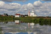 Church of Elijah the Prophet reflected in Kamenka river - Suzdal Russia