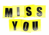 Miss you in yellow note