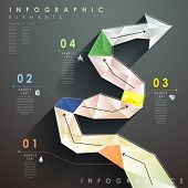 Flat Style Abstract Flow Chart Infographics