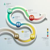Abstract 3D Arrow Flow Chart Infographics