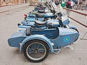 Old Sidecar Moto Guzzi V7