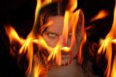 Flaming demon