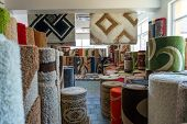 Carpets And Rugs Rolled Up & Displayed