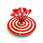 Target. Success concept. 3d illustration