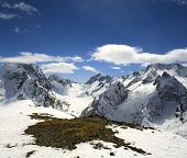Beautiful High Mountains Of Caucasus