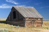 1700's Style Norwegian Barn In A Field In Montana