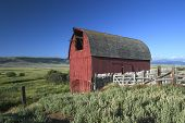 Old Red Barn In Montana