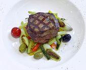 Grilled Rib-eye Steak With Ratatouille