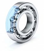 picture of ball bearing  - Ball Bearing over white background  - JPG