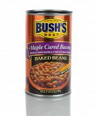IRVINE, CA - January 21, 2013: A 28 ounce can of Bush's Maple Cured Bacon Baked Beans. Bush's has be