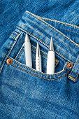 Pen in jean pocket