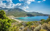 Baie De Nichiareto On West Coast Of Corsica