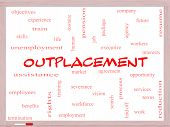 Outplacement Word Cloud Concept On A Whiteboard