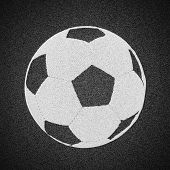 Soccer Ball Painted On Asphalt Texture