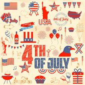 illustration of design element for 4th of July