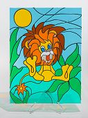 Stained glass - lion
