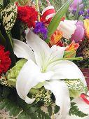 Close Up Of A Flower Bouquet