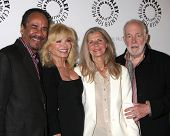 LOS ANGELES - JUN 4:  Tim Reid, Loni Anderson, Jan Smithers, Howard Hesseman at A WKRP in Cincinnati