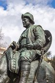 Sancho Panza From Monument To Cervantes And Heroes Of His Books In Madrid