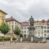 Austria, Graz, A Monument To Emperor Francis I In Rainy Weather