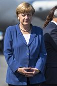 BERLIN, GERMANY - MAY 20, 2014: German Chancellor Angela Merkel open up the International aviation a