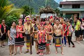 SARAWAK, MALAYSIA: JUNE 1, 2014: People of the Bidayuh tribe, an indigenous native people of Borneo,