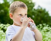 Child Drinking Pure Water