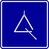 triangle musical instrument sign