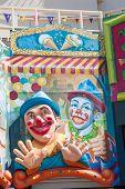Clown Faces At Luna Park, Melbourne