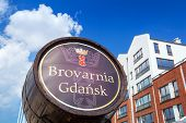 GDANSK, POLAND - 20 MAY: Brovarnia Gdansk in the old town of Gdansk on 20 May 2014. The mini-brewery is located in the boutique complex of Gdansk hotel and offers the best beer in Poland.
