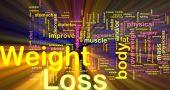 Gewicht-Verlust-Hintergrund-Konzept glühend