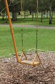 Yellow Swing in a Park