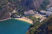 Aerial View Red Beach (praia Vermelha) Rio De Janeiro