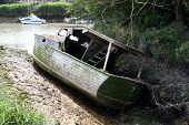 An Old Sunken Shipwrecked Boat